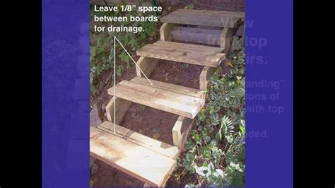 the 2 minute gardener photo landscape timber stairs 26 best timber stairs images on pinterest landscape