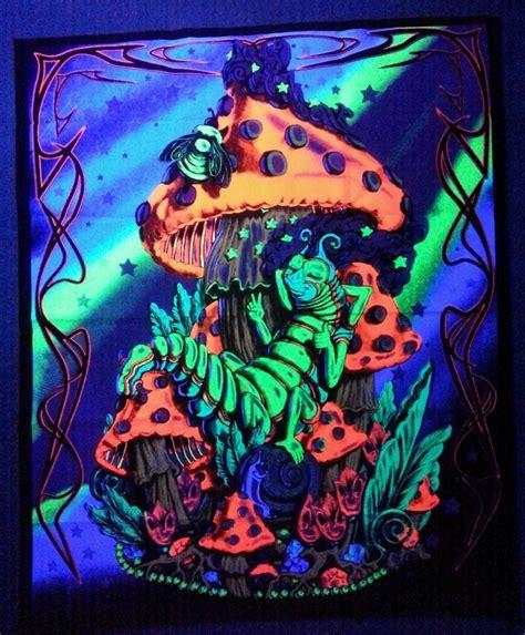 Black Light Tapestry by Caterpillar Blacklight Reactive Tapestry Cloth