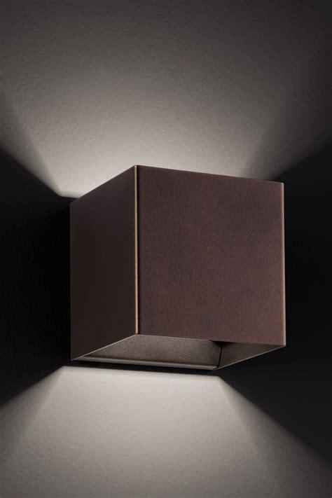 illuminazione laser laser cube lada a parete di design in metallo con