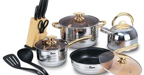 Limited Oxone Cookware Gold Ox 777 ox 777 oxone rosegold cookware set situs belanja