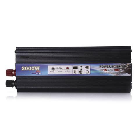 Harga Power Inverter 2000 Watt car power inverter dc 12volts to ac 220v 2000watt black