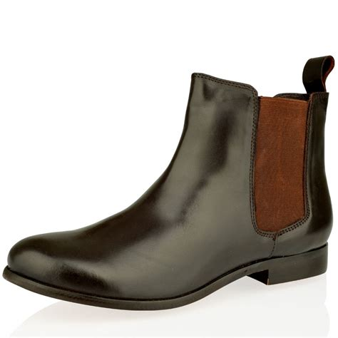 womens chelsea low heel pull on ankle