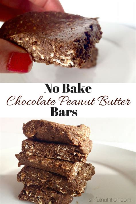 no bake peanut butter bars with chocolate on top no bake chocolate peanut butter bars giveaway sinful nutrition
