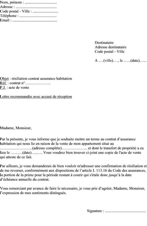 Modele Resiliation Voiture Document Exemple Modele Lettre De Resiliation Bail Habitation