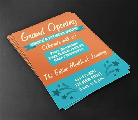 best color paper for flyers grand opening flyers signazon com
