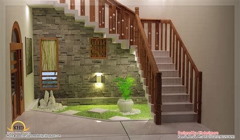 House Beautiful Kitchen Phots Beautiful 3d Interior House Interior Design Pictures Kerala Stairs