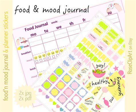 printable food mood journal printable food and mood journal menu diary and page markers