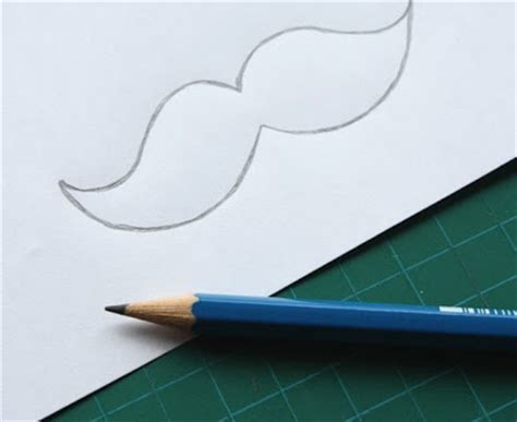 How To Make A Paper Moustache - papercuts diy paper moustaches