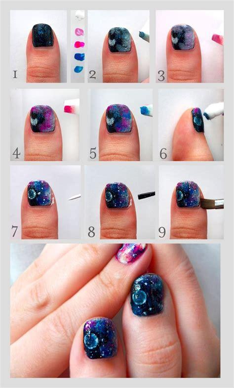 homemade nail art tutorial best 25 galaxy nails tutorial ideas on pinterest diy