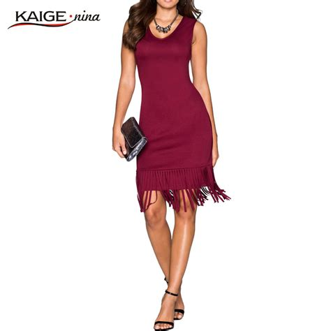 Supplier Dress By Naura aliexpress buy kaige new fashion sale casual dresses sheath tassel