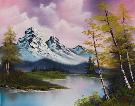 bob ross paintings and names shopping bob ross pastel fall painting on paintings biz