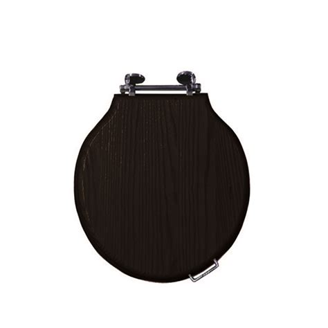 solid wood toilet seats etoile solid wood toilet seat with soft hinge chrome