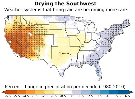 climate map of western united states southwest sliding into a drier normal weather patterns