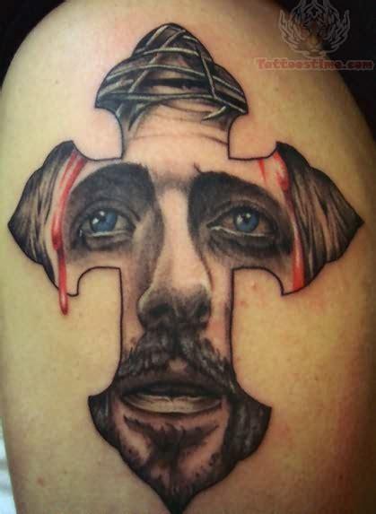 jesus christ on cross tattoo jesus and cross for shoulder