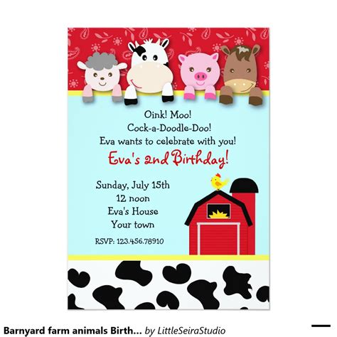 Birthday Invites How To Make Farm Birthday Invitations Free Printable Farm Birthday Invitations Free Farm Birthday Invitation Templates