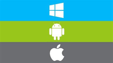 windows apple android computer operating system logo