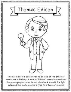 Bill Gates Coloring Pages And Gates On Pinterest Edison Coloring Page