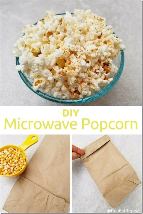 How To Make Popcorn Out Of Paper - diy microwave popcorn in a paper bag run eat repeat