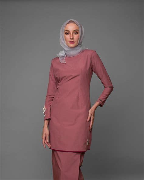 Baju Kurung Moden Biru Pink kurung moden iris dusty pink cirgaro