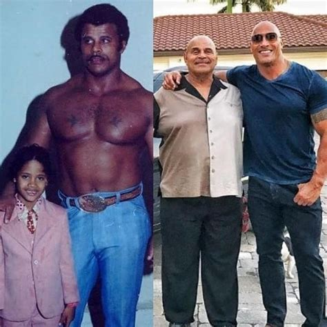 dwayne the rock johnson then and now throwback photo of dwayne johnson and his father at tender