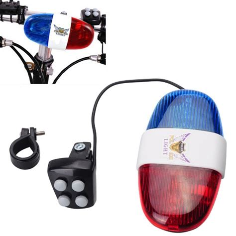 police bicycle lights and siren bike bicycle 4 tone police light and electric horn siren