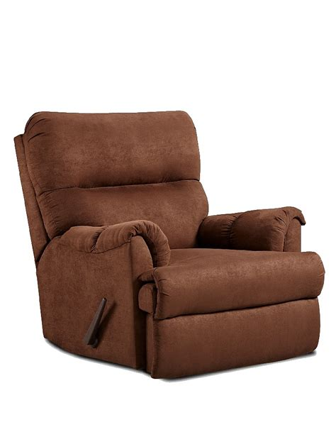 Chocolate Microfiber Recliner by Affordable Furniture 2155 Aruba Microfiber Recliner In