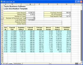 loan schedule template excel loan amortization template loan