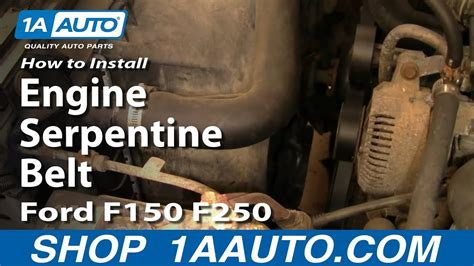replace engine serpentine belt ford   ff