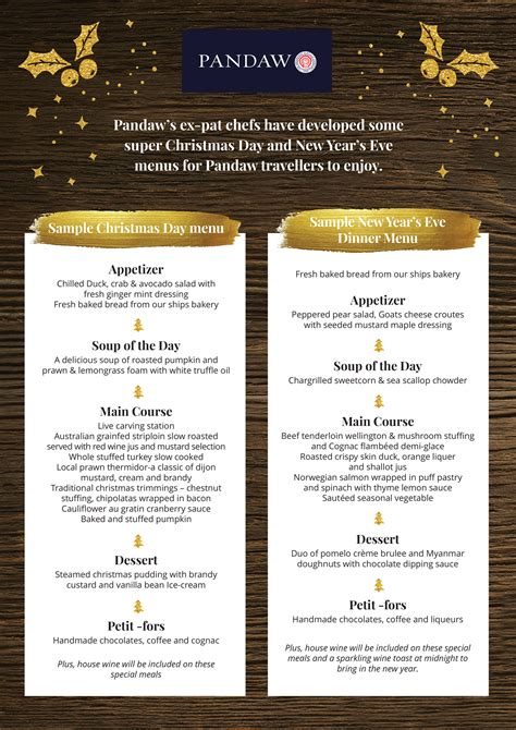 luckee new year menu pandaw new year 2016 menu