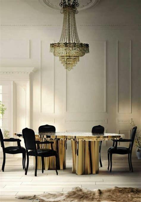 chaise salle a manger baroque la plus originale table de cuisine ronde en 56 photos