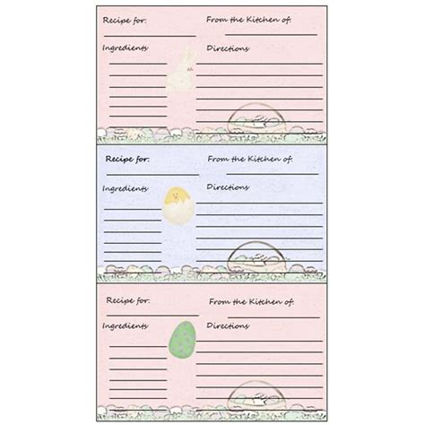 microsoft word recipe card template 5 free printable recipe card templates for
