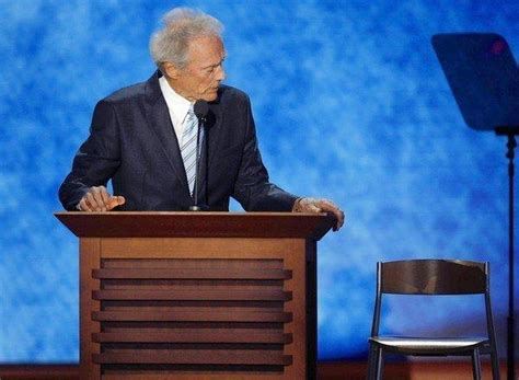 Clint Eastwood Talking To Chair by Clint Eastwood Didn T Exactly Make Team Romney S Day Latimes