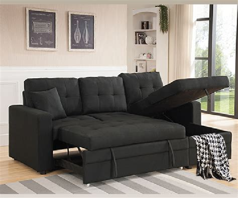 black pull out couch black linen like fabric pull out sofa bed sectional