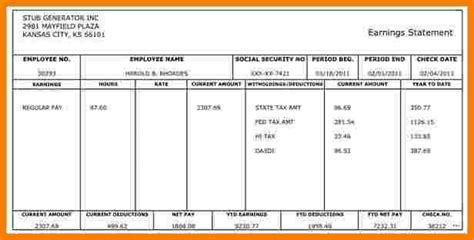 7 Canadian Pay Stub Template Excel Sales Slip Template Excel Pay Stub Template Canada