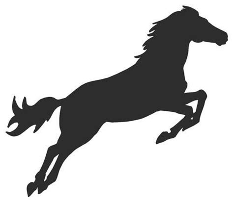 Unicorn Wall Sticker horse jumping decal