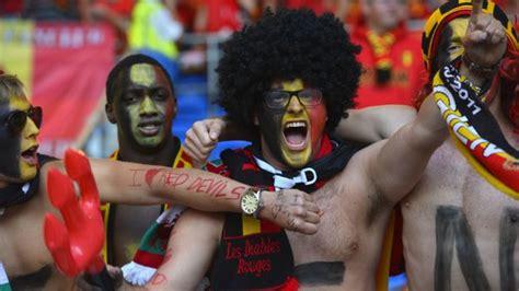 Fan Evcoss 1250 fans belges en plus pour belgique ecosse rtbf football