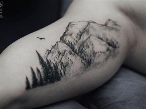 tattoos of mountains 30 mountain with trees tattoos