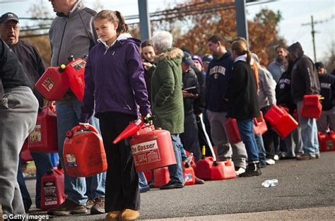 all the girls waiting in line for the bathroom superstorm sandy new york fuel shortage causes frantic