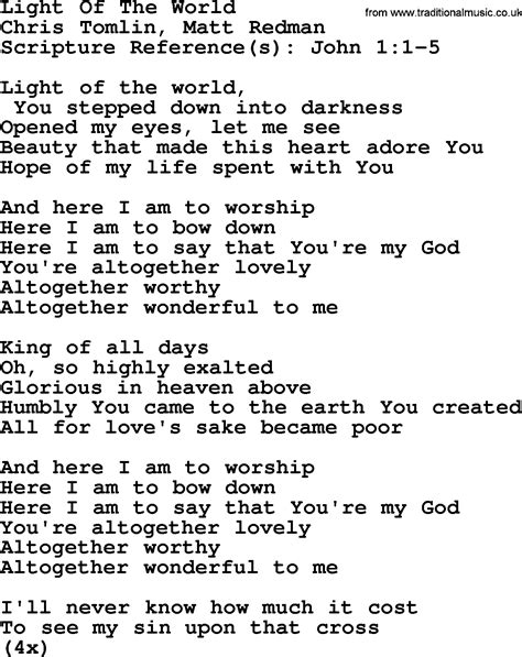 i am the light of the world hymn most popular church hymns and songs here i am to worship