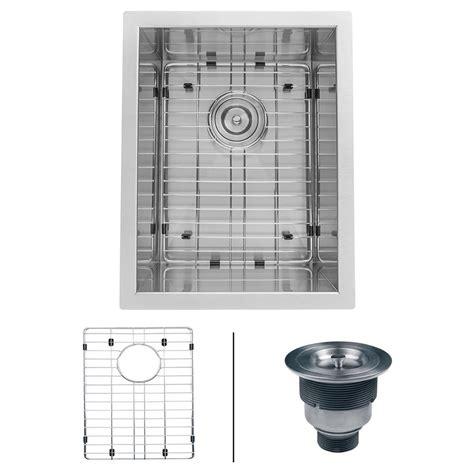 home depot bar sink ruvati 13 in x 15 in single bowl undermount 16 gauge