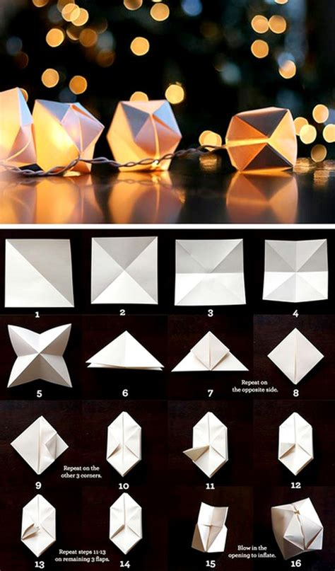 Origami Japanese Lantern - diy wedding tutorial let there be light wedding ideas