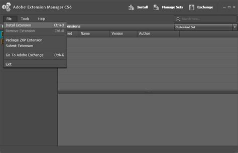 file format zxp installing adobe extensions