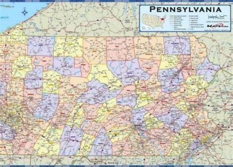 pennsylvania in usa map map of pennsylvania cities and towns afputra