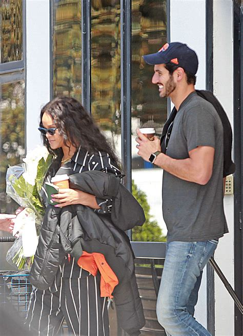 rihanna and hassan jameel out in ibiza