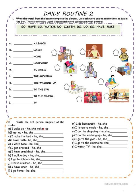 english printable worksheets daily routine daily routines worksheet free esl printable worksheets