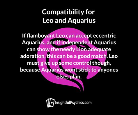 leo and aquarius whats your compatibility