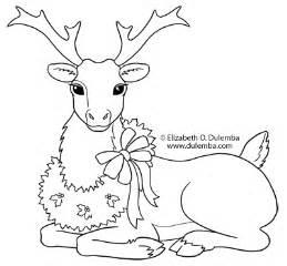 dulemba coloring tuesday reindeer