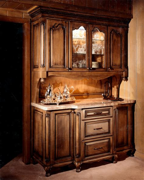 Traditional Dining Room Hutch Bars And Hutches Traditional Dining Room Denver By