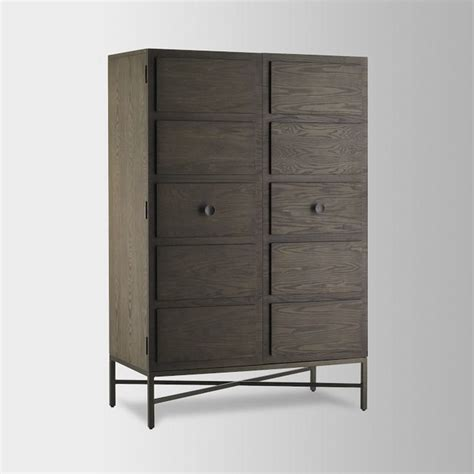 modern armoires paneled armoire modern armoires and wardrobes by west elm