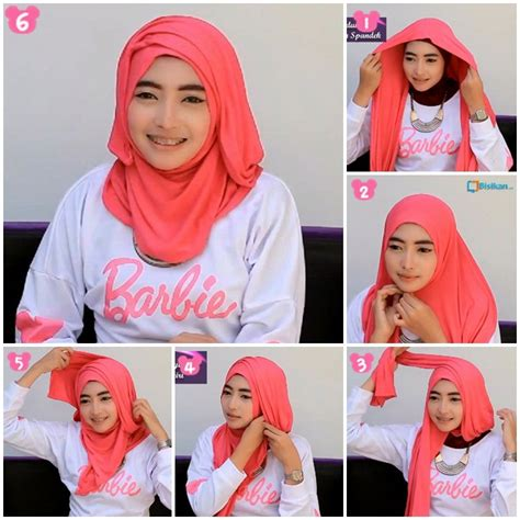 tutorial hijab simple tapi menarik tutorial hijab pashmina spandek wajah bulat